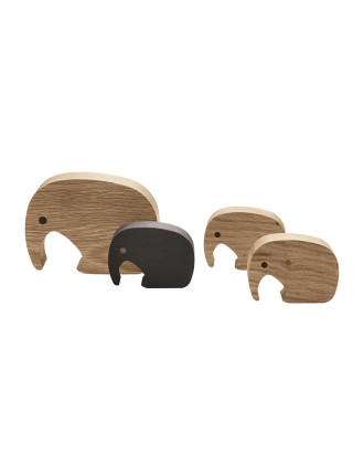 Elephant Figurine 4 Pcs
