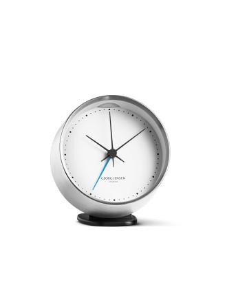 Hk Clock W. Alarm, Steel-White, 10 Cm