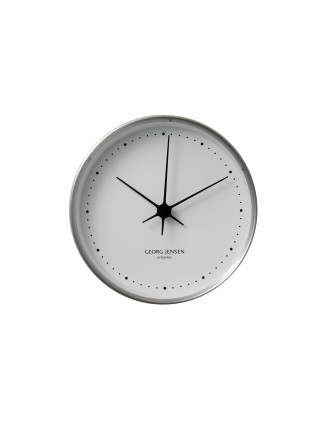 Koppel 15 Cm Wall Clock, Stainless Steel With White Dial
