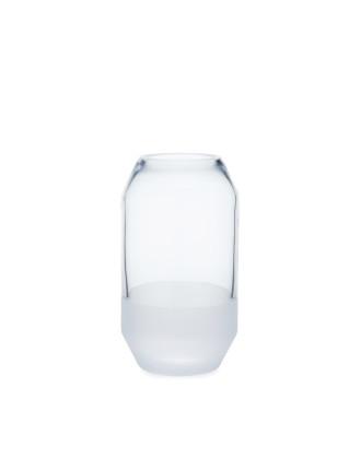 Clear Bevel Medium Vase