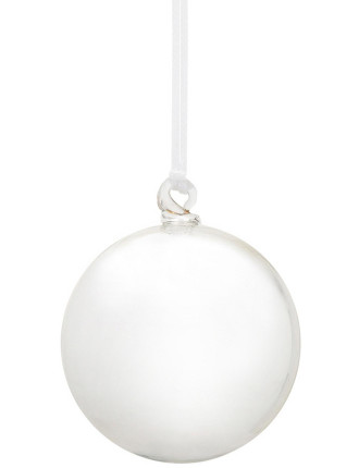 Glass Baubles Set Of 4