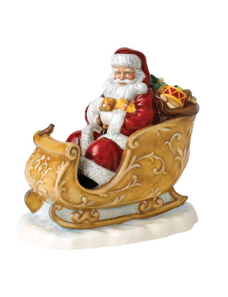 Father Christmas Classic 2014 Santa's Sleigh HN 5689 20cm