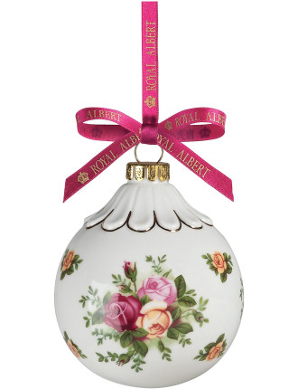 Christmas Ball Old Country Roses Ornament