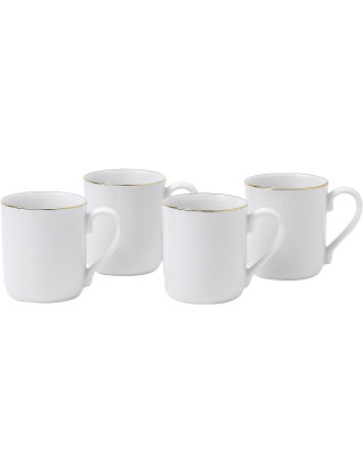 Simply Gold Set of 4 Mugs