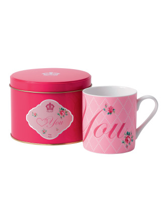 Royal Albert Mug In Tin Love You