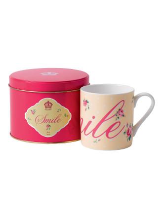 Royal Albert Mug In Tin Smile