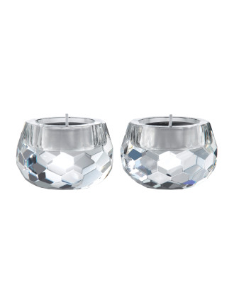 Royal Doulton Radiance Giftware Hex Tealight Pair 6cm