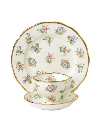 Royal Albert 100 Years 1920 Spring Meadow Teacup, Scr & Plt