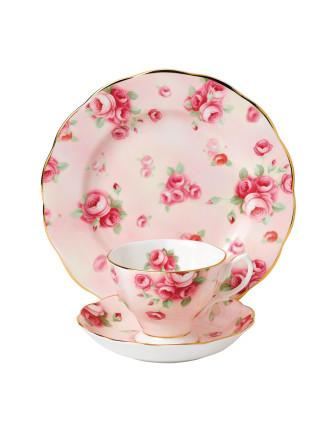 Royal Albert 100 Years 1980 Rose Blush Teacup, Saucer & Plt