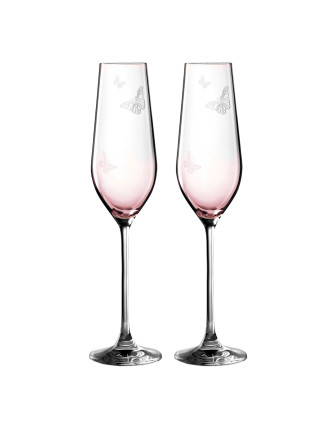 Miranda Kerr Glass Flute Pair Pink 230m