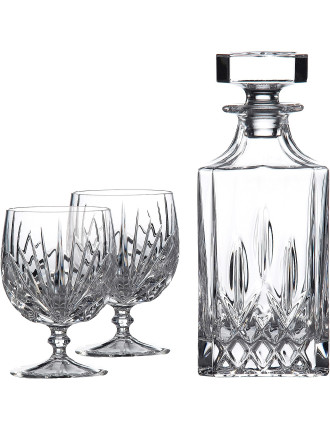 Brandy Decanter Set and 2 Brandy Glasses