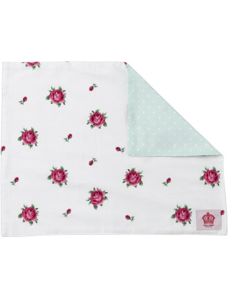 New Country Roses White/ Polka Rose Placemat Single
