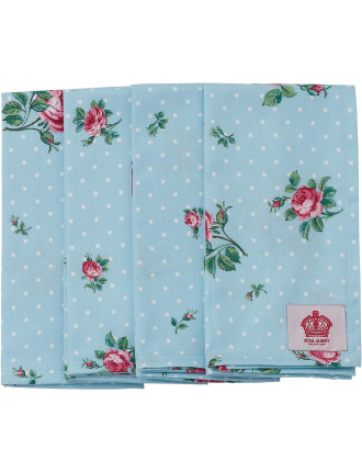 Polka Blue Set of 4 Napkins