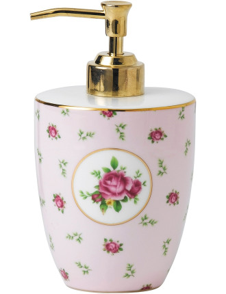 New Country Roses Pink Soap Dispenser