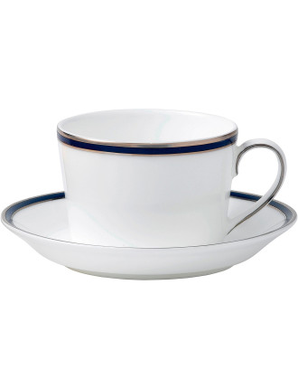 Signature Blue Teacup & Saucer Set