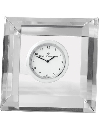 Radiance Giftware Clock Square Faceted