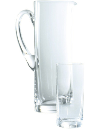 Glass Sets Straight Jug and Highball Set of 6