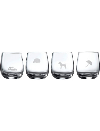 Pop In For Drinks Tumbler Set of 4