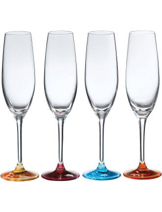 Pop In For Drinks Flute Set of 4 Colours