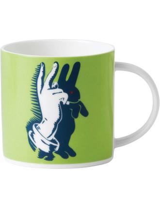 Street Art Pure Evil Bunny Fingers Mug 350ml