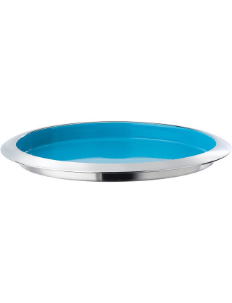 Pop In For Drinks Tray Blue 36cm