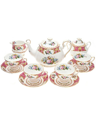 Lady Carlyle 11 Piece Teaset