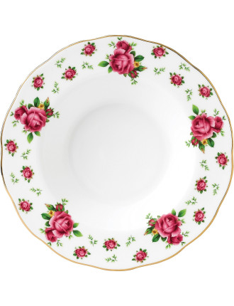 New Country Roses White Rim Soup/Salad Bowl