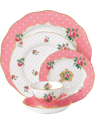 Cheeky Pink 5 Piece Place Setting