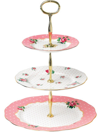 Cheeky Pink 3 Tier Cake Stand