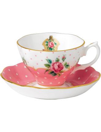 Cheeky Pink Teacup & Saucer