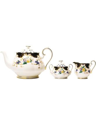 100 Years 1910s Teapot/Sugar/Creamer