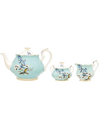 100 Years Teaware 1950s Teapot/Sugar/Creamer