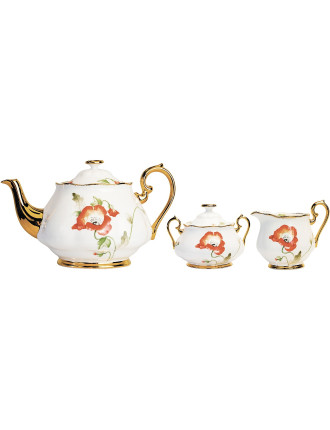 100 Years 1970s Teapot/Sugar/Creamer