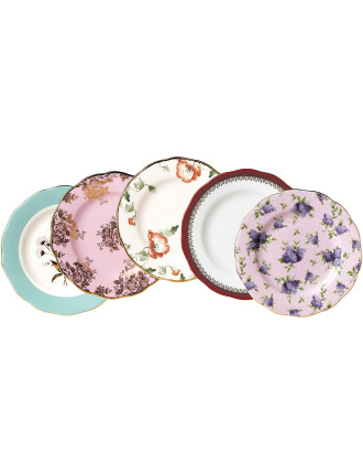 100 Years 5 Plate Set 1950s - 1990s