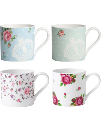 Set of 4 Casual Mugs