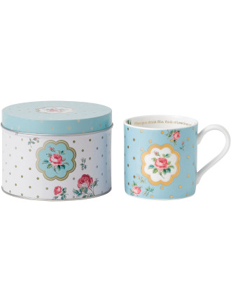 Mug in Tin Polka Blue