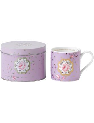 Mug in Tin Rose Confetti