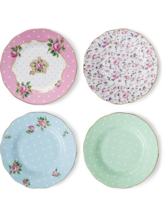 Mixed Set of 4 Plates 16cm