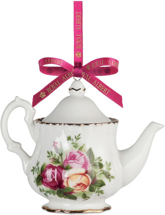 Old Country Roses Teapot Decoration