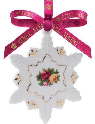 Old Country Roses Snowflake Decoration