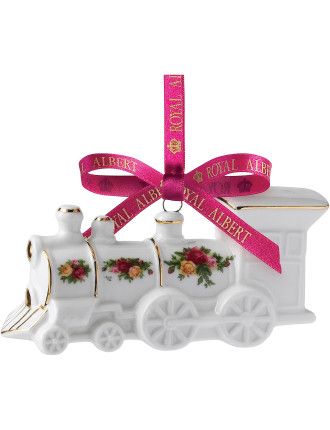 Old Country Roses Train Decoration