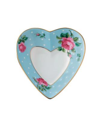 Polka Blue Heart Tray