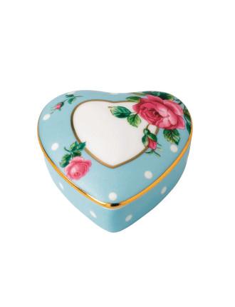 Polka Blue Heart Box