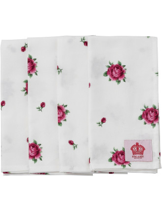 New Country Roses Set of 4 Napkins