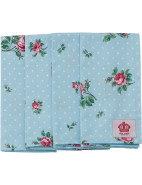 Polka Blue Set of 4 Napkins $29.95