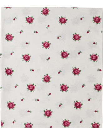 New Country Roses White Tablecloth 228x182cm
