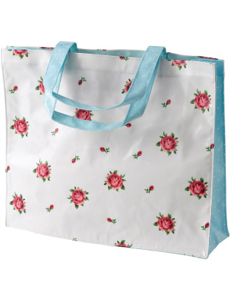 New Country Roses White Shopping Bag