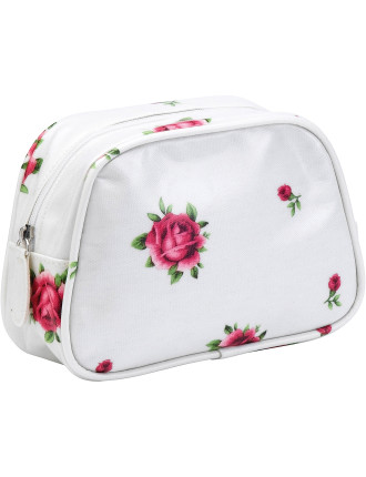 New Country Roses White Make Up Bag