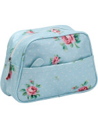 Polka Blue Wash Bag $29.95