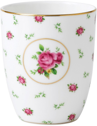 New Country Roses White Beaker